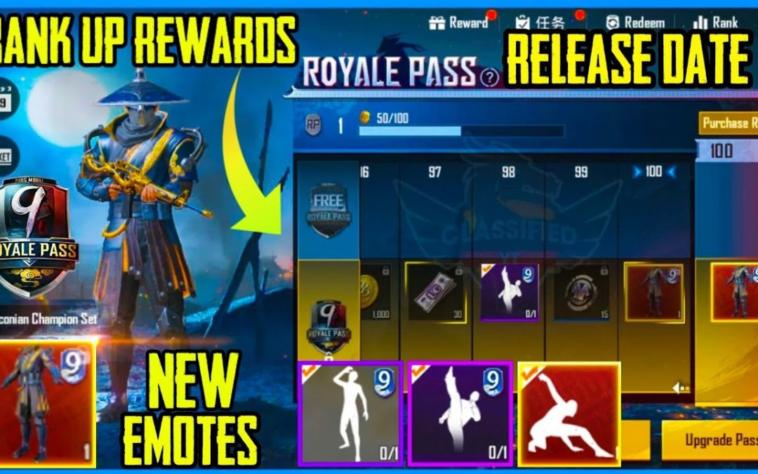 PUBG Mobile Season 9 Royal Pass Rewards