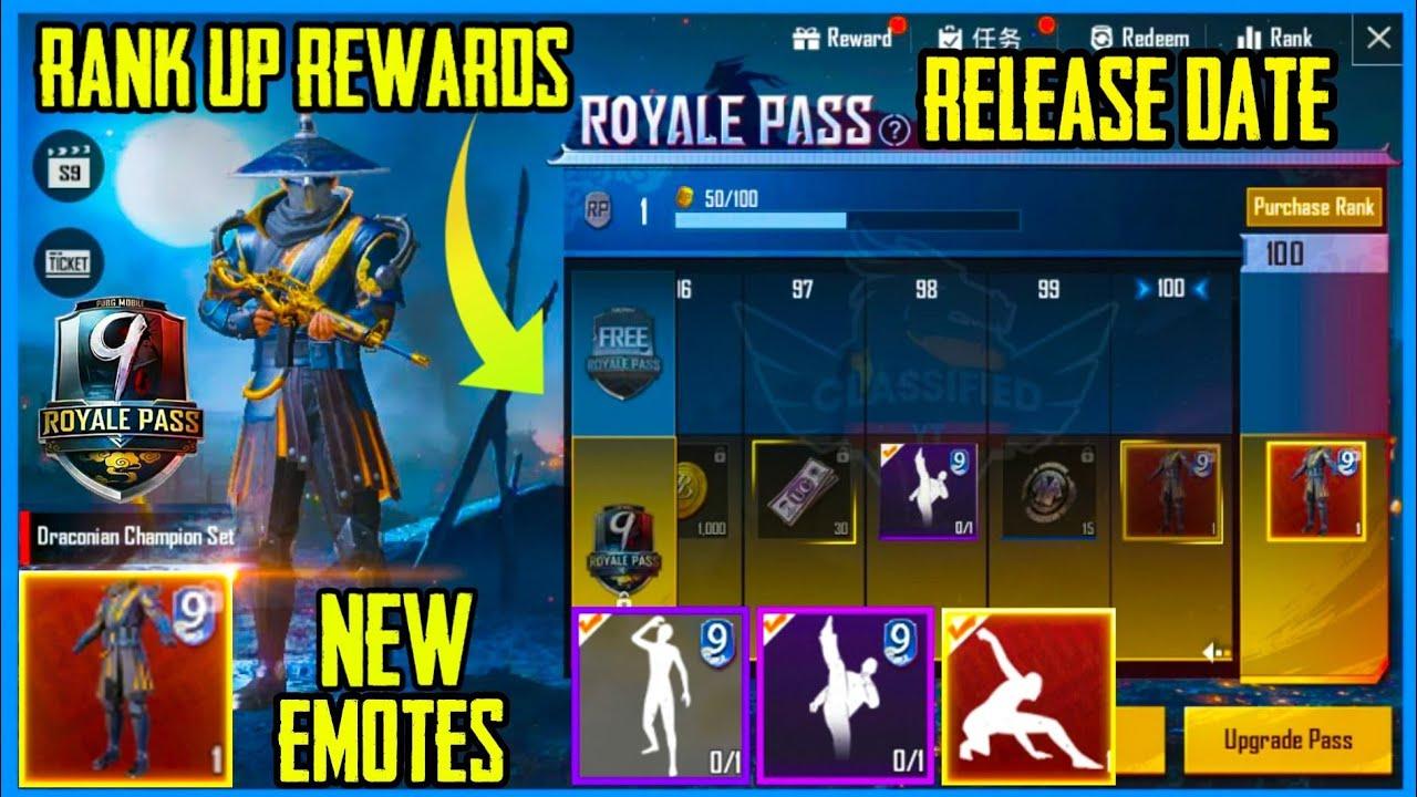 Pubg Mobile Season 9 Royal Pass Rewards